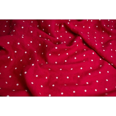 Material 100% In imprimat - Polka Dots Red