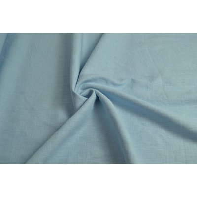 Material 100% In - Linen Enzyme Washed - Light blue