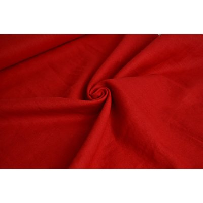 Material 100% In - Linen Enzyme Washed - Red