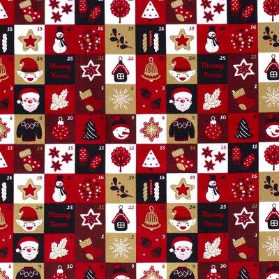 Material bumbac - Advent Calendar Navy
