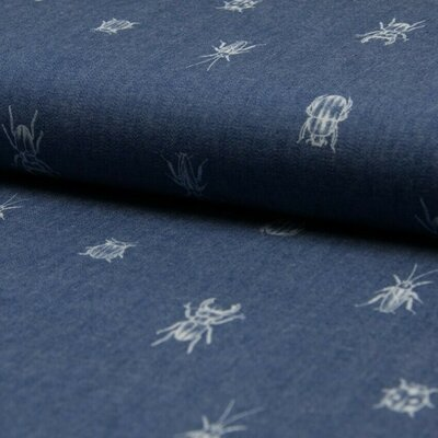 Material bumbac - Chambray Bugs and Beetles