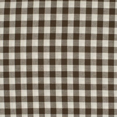Material bumbac - Gingham Brown 10mm