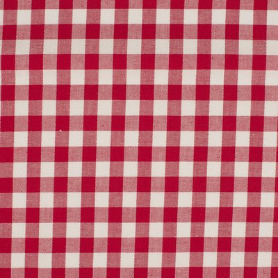 Material bumbac - Gingham Red 10mm