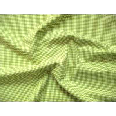 Material bumbac - Mini Gingham Lime 2mm