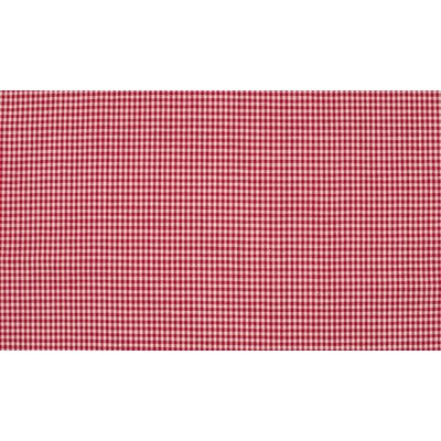 Material bumbac - Mini Gingham Red 2mm