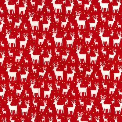 Material bumbac - Reindeer Red