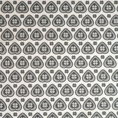 Material bumbac - Scandi Hearts Grey on Cream