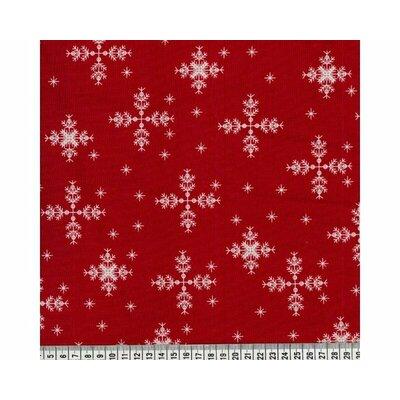 Material bumbac - Xmas Snowflakes Red