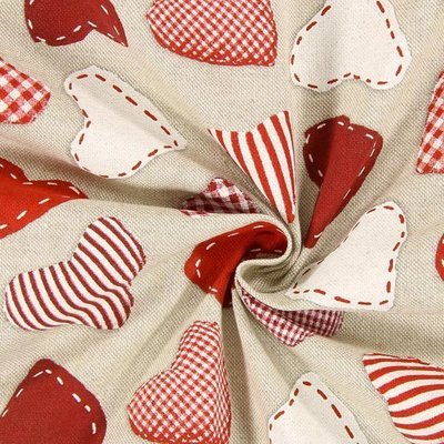 Material Canvas - Stitched Hearts