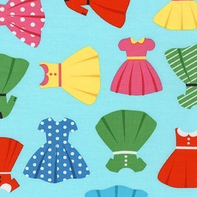 Material designer print - Girl Friends Cute Dresses