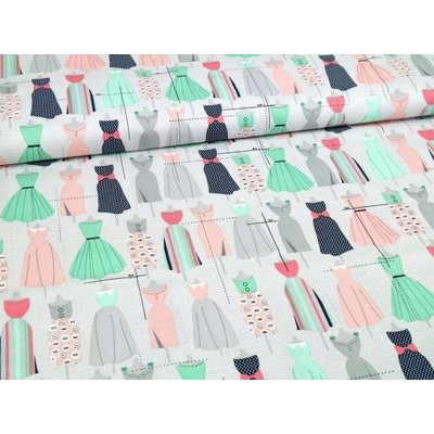 Material designer print - Sew Dressed Up Dresses