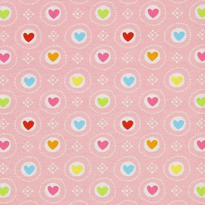 Material Home Decor - Hearts Pink