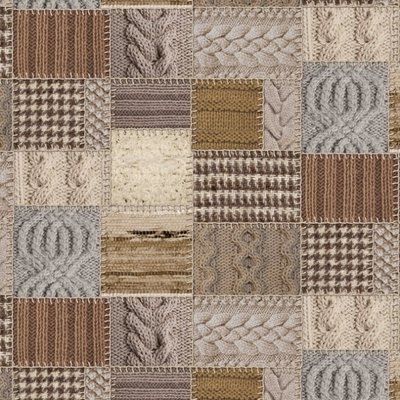 Material Home Decor imprimat digital - Patchwork Knit