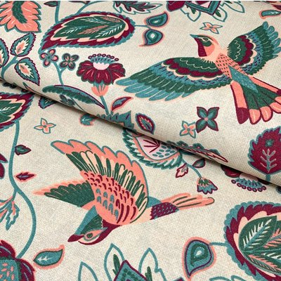 Material Home Decor - Indian Flowerbird Ecru