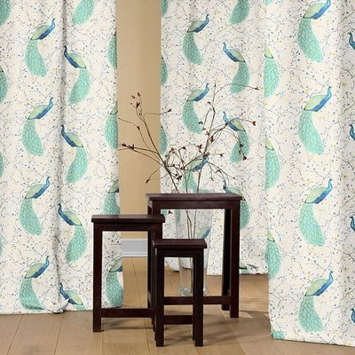 Material home decor - Peacock Garden