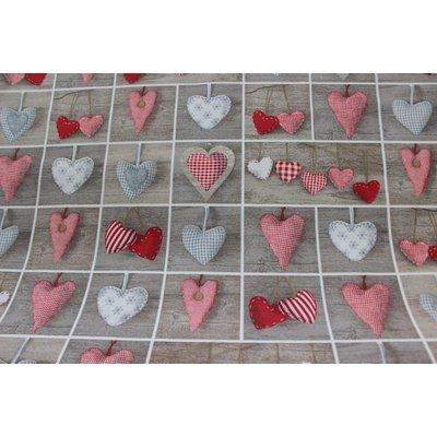 Material Home Decor - Scandi Hearts