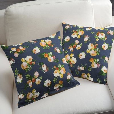 Material Home Decor - Small Floral Navy