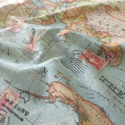 Material Home Decor - World map