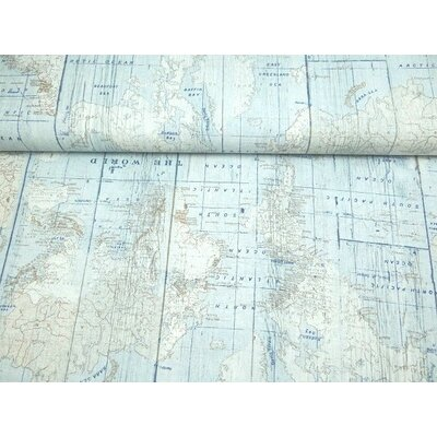 Material Home Decor - World map Blue