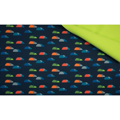 Material impermeabil si calduros Soft Shell - Fancy Clouds Navy