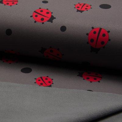 Material impermeabil si calduros Soft Shell - Ladybug Grey