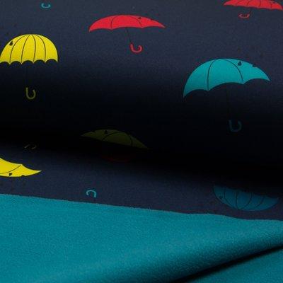 Material impermeabil si calduros Soft Shell - Umbrella Navy
