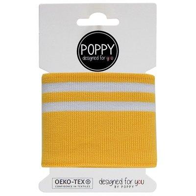 Material pentru mansete - Yellow Stripes 135x7 cm
