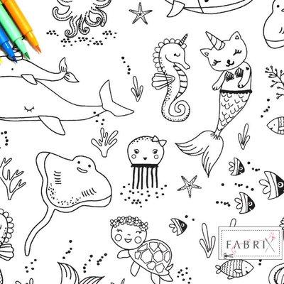 Material textil de colorat - Beluga