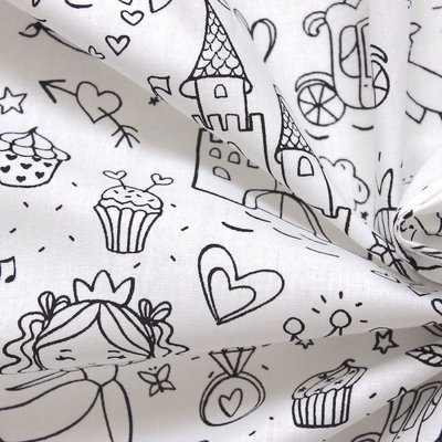 Material textil de colorat - Color me Fairy