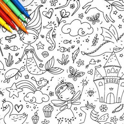 Material textil de colorat - Darling