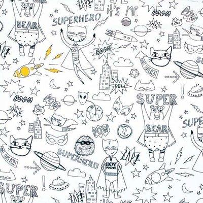 Material textil de colorat - Superhero