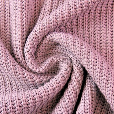 Material tricotat din bumbac - Old Rose