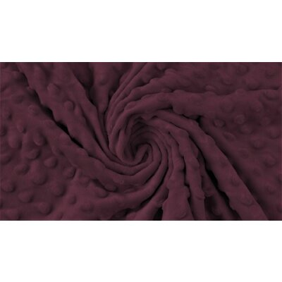 Minky Dot Fleece Fabric - Dark Bordeaux