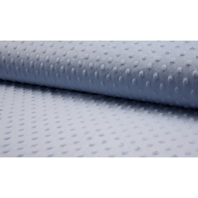 Minky Dot Fleece Fabric - Dusty Blue