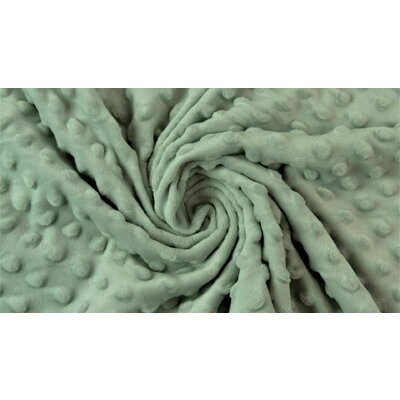 Minky Dot Fleece Fabric - Vintage Mint