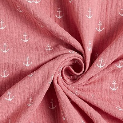 Muselina imprimata - Anchors Rose