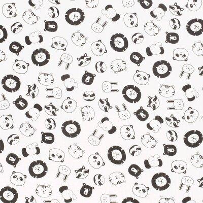 Muselina imprimata - Animals Ivory