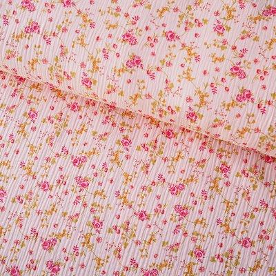 Muselina imprimata - Flower Garden Rose