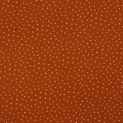 Muselina imprimata - Little Dots Brique