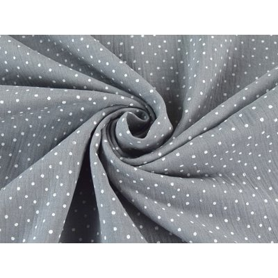 Muselina imprimata - Little Dots Grey