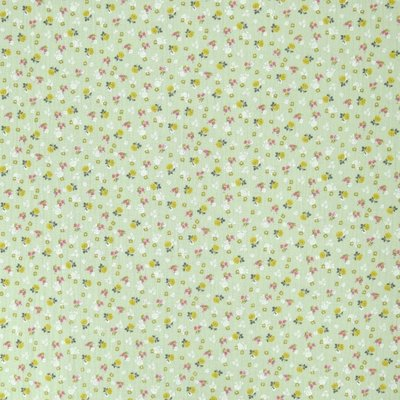 Muselina imprimata - Lovely Flower Mint