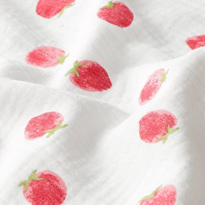 Muselina imprimata - Strawberry Ivory