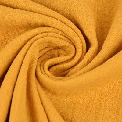 Muselina Organica GOTS - Dark Yellow