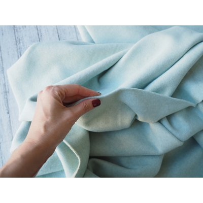 Organic Cotton Fleece - Mint Melange