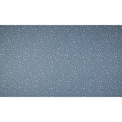 Organic Poplin Printed- Dots Dusty Blue
