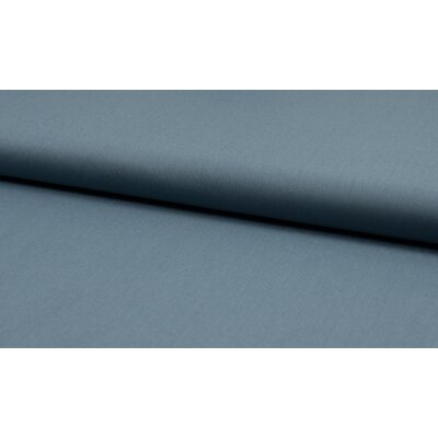 Organic Poplin Uni - Dusty Blue