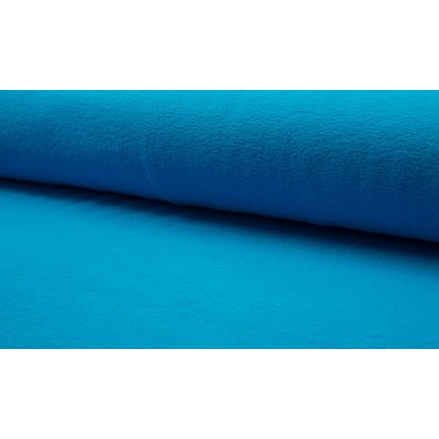 Plush Fleece din bumbac - Aqua