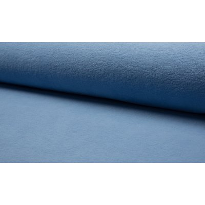 Plush Fleece din bumbac - Dusty Blue