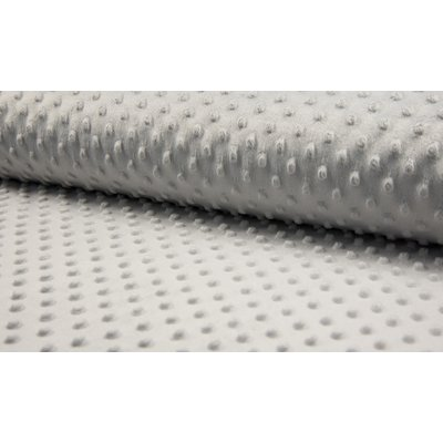 Plush Minky Dot - Light Grey