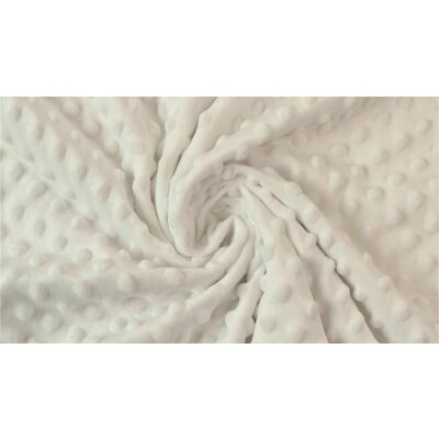 Plush Minky Dot - Off White Ivory